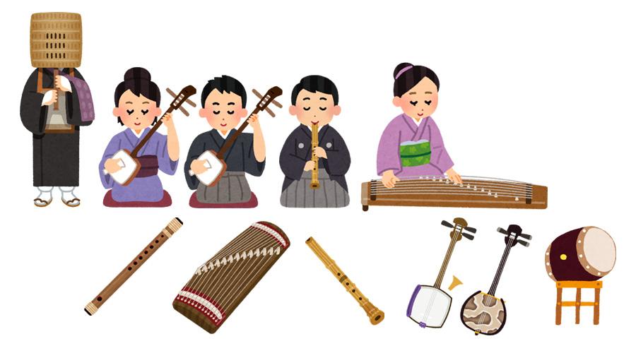 いらすとや 和楽器イラスト素材