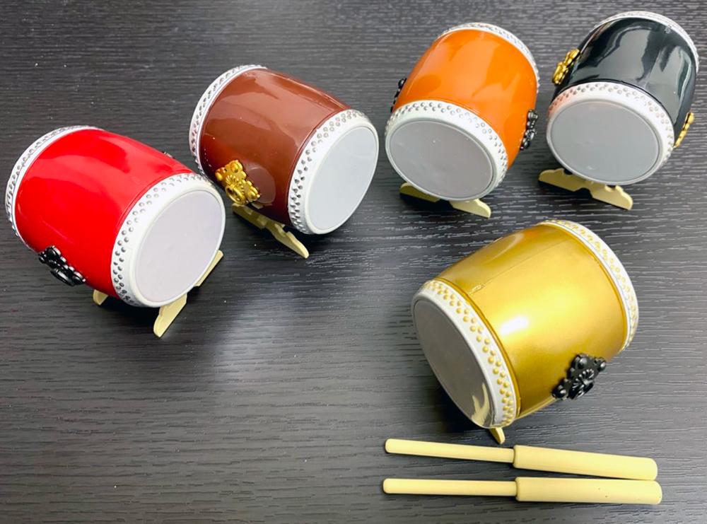 マジで鳴る太鼓 和太鼓のガチャ 全5種類の完成図