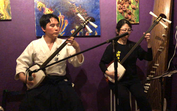 Japanese lounge night 小山貢山(三味線弾き獅子道)氏