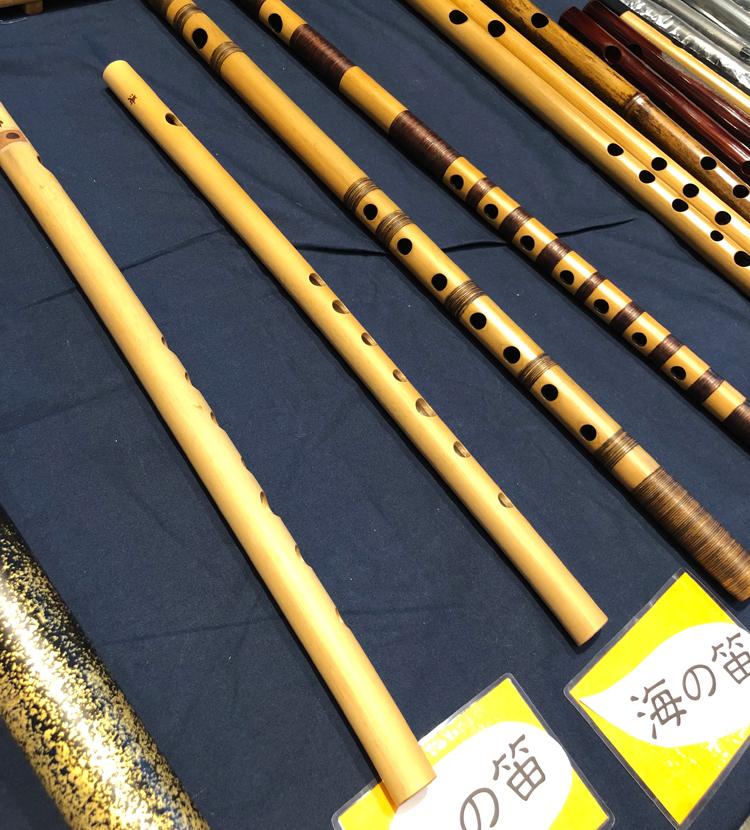 笛展示の様子 篠笛工房 立平