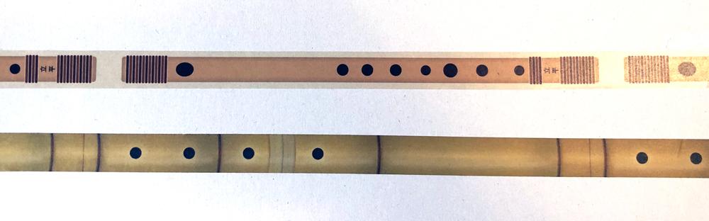 篠笛工房 立平製「無限篠笛マスキングテープ」と ほうがくのわ製「MUGEN尺八マスキングテープ」